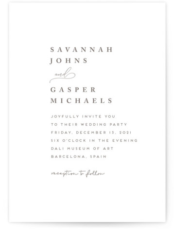 Lynne Letterpress Wedding Invitations