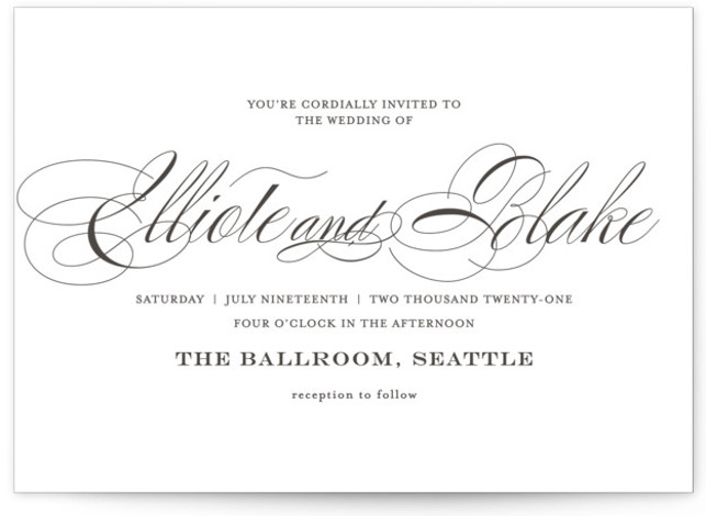 Timeless Elegance Letterpress Wedding Invitations