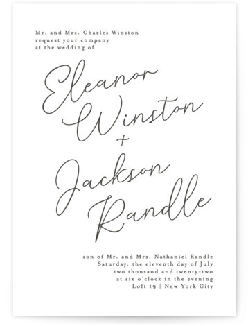 Semplice Letterpress Wedding Invitations