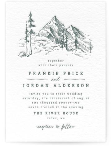 fresh air Letterpress Wedding Invitations