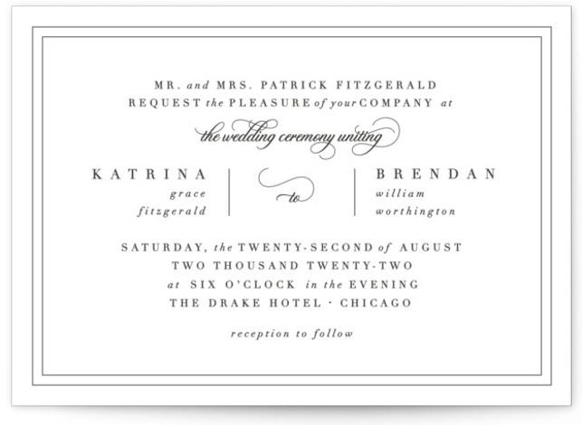 Garnish Letterpress Wedding Invitations