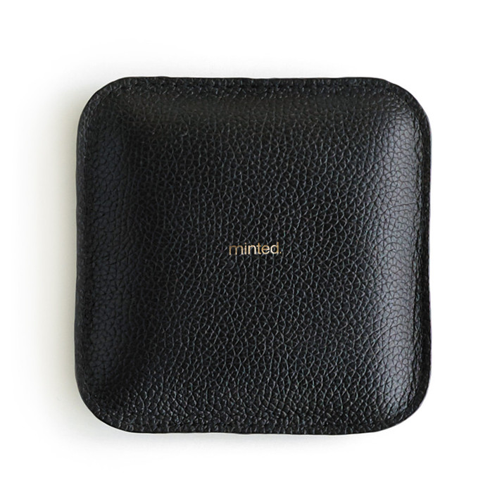 Black Paperweight Leather Paperweight