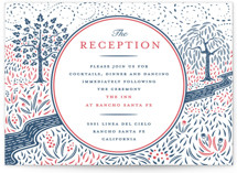 Into the Woods Letterpress Reception Cards