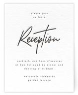 Modern Script Letterpress Reception Cards