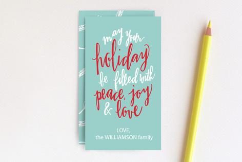 Hand Lettered Peace, Joy & Love  Mini Cards