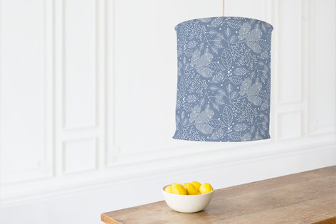 Frosted Winter Fabric Self Launch Chandelier Lampshades