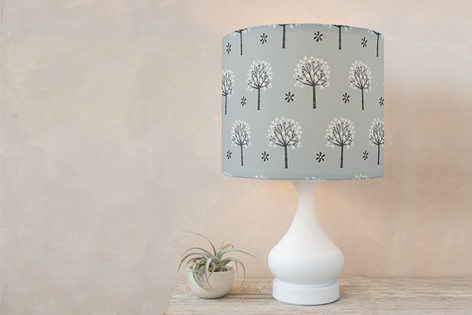 Flowering Trees Self Launch Drum Lampshades