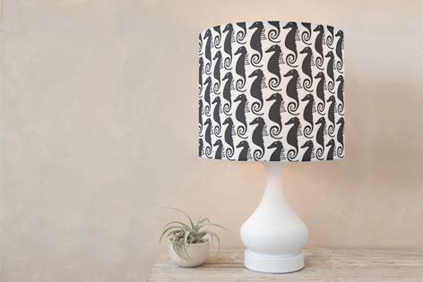 Sea Horse Self Launch Drum Lampshades