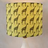 Designer Giraffe  Self Launch Drum Lampshades
