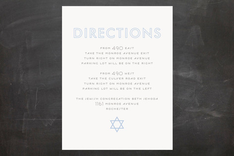Called Mitzvah Direction Cards