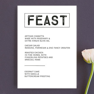 Feast Menu Cards
