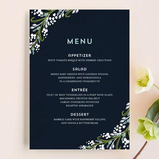 Midnight Floral Menu Cards
