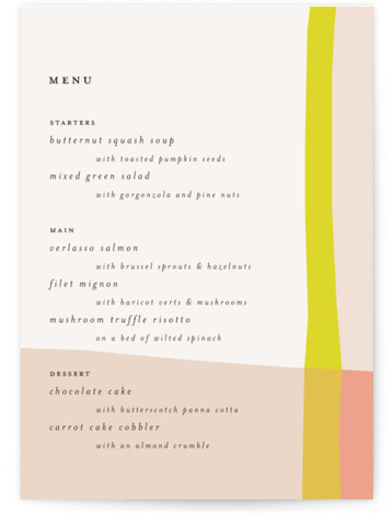Color Block Menu