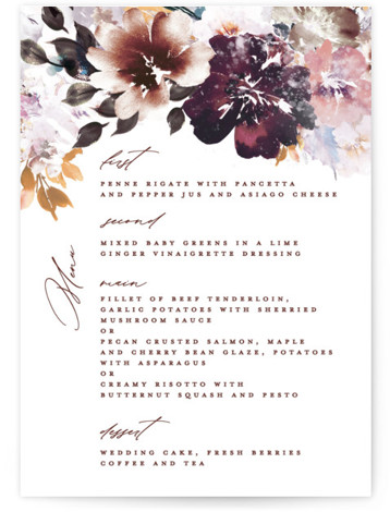 Lush Bouquet Menu
