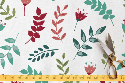 Playful leaves Fabric