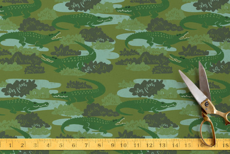 Crocodile Camo Fabric