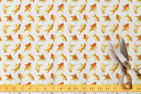 tiniest carp Fabric