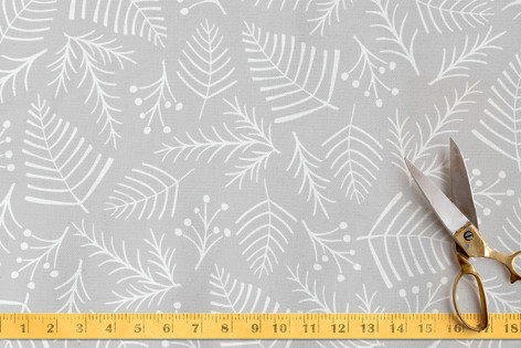 Peaceful Pine & Berry Fabric
