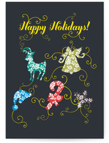 happy holidays and swirls Cards