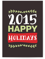 year and happy holidays Cards