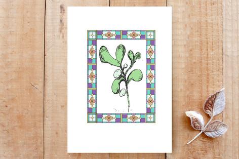 Mistletoe in the Window Cards