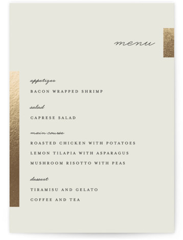 Gallant Foil-Pressed Menus