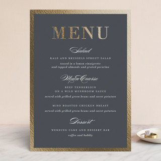 Unconditional Foil-Pressed Menus