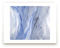 drenched in blue grey Wall Art Prints