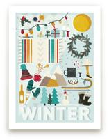 4 Seasons : Winter Wall Art Prints
