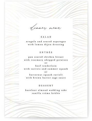 Bold Waves Gloss Press Menu