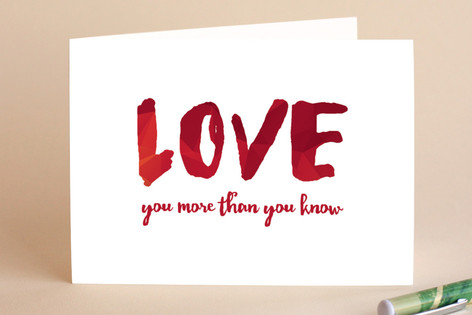 Love You More than You Know Greeting Cards