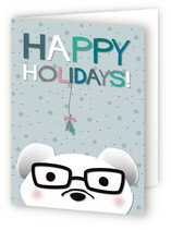 polar winter bear Holiday Cards
