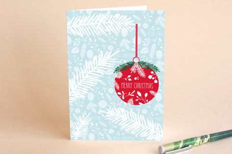Merry Christmas Bauble Holiday Cards