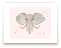Pink Tusk Elephant by Nikki Rene