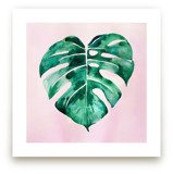 palm leaf in pink