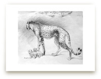 Cheetah with cubs by Tracy Ann