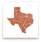 Texas Highway Map by Jessie Steury