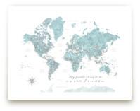 Where I've never been world map