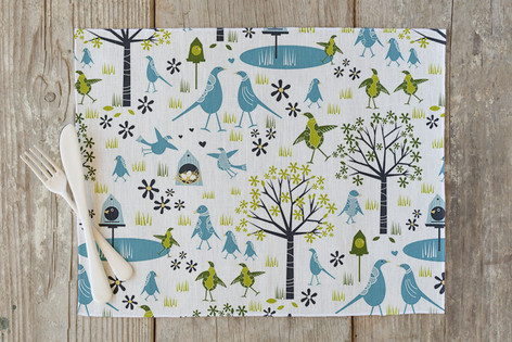 Lakeside Birds Self Launch Placemats