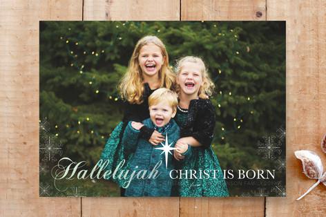 Hallelujah Christ Is Born Custom Stationery