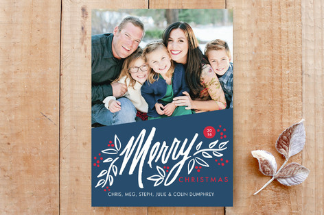 Berry Merry Christmas Custom Stationery