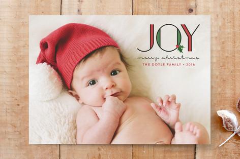 Joyful Holly Custom Stationery