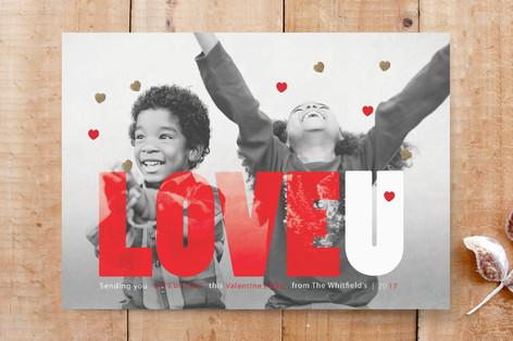 LOVEU Hearts Custom Stationery