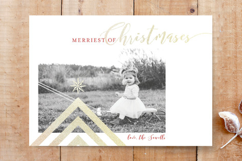 Merriest Of Christmases Custom Stationery