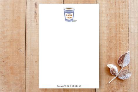 NYC Coffee Cup Custom Stationery