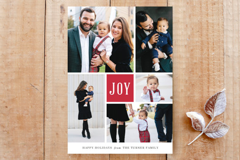 Joyful Montage Holiday Card Custom Stationery