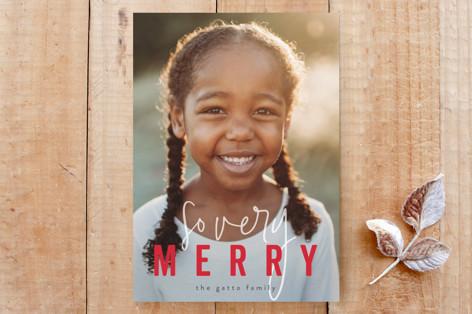so very merry holiday card Custom Stationery