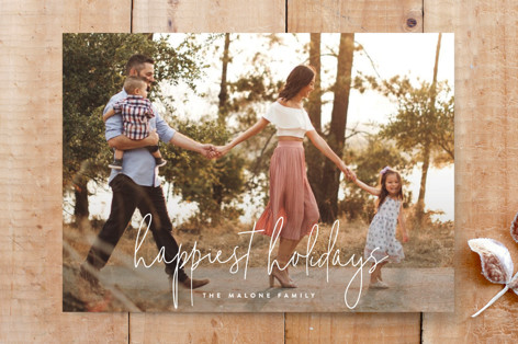 happiest holidays holiday card Custom Stationery
