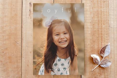 simple joyful holiday card Custom Stationery