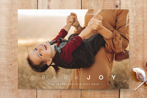 spark joy holiday Custom Stationery